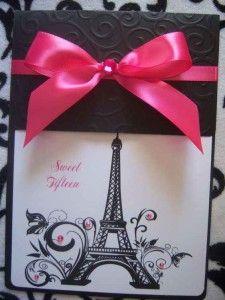Decoracion De Invitacion De 15 Años De Paris 4 Fiestas