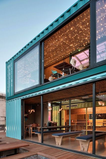 wahaca southbank experiment shipping container restaurant designed by softroom architects london uk the wahaca southbank experiment queen elizabeth hall