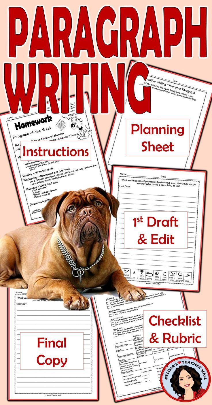 Paragraph Writing Paragraph of the Week Informative, Narrative ...