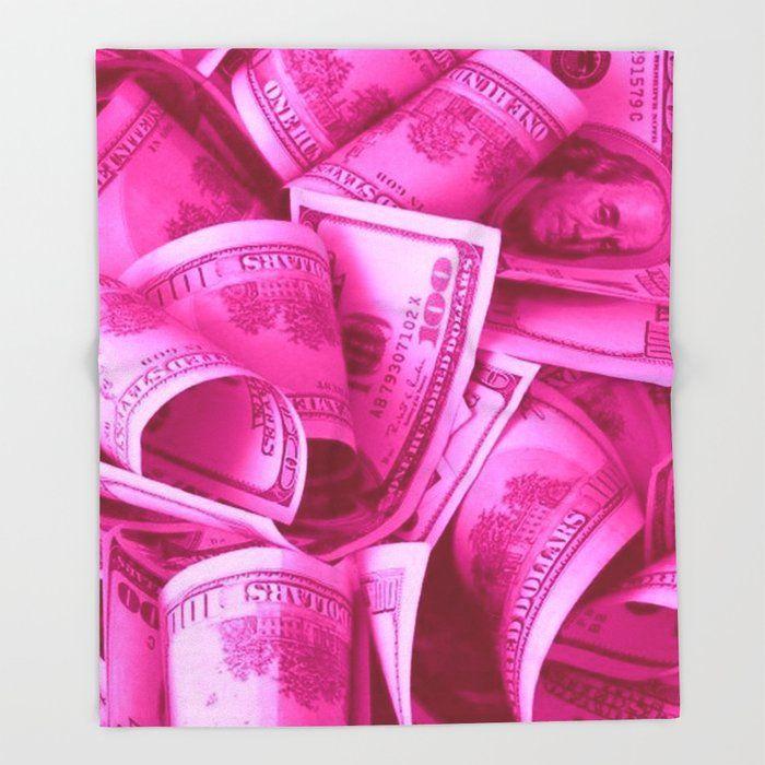 Pink Barbie Benjamins Bed Throw Blanket by Shanboujee - 51