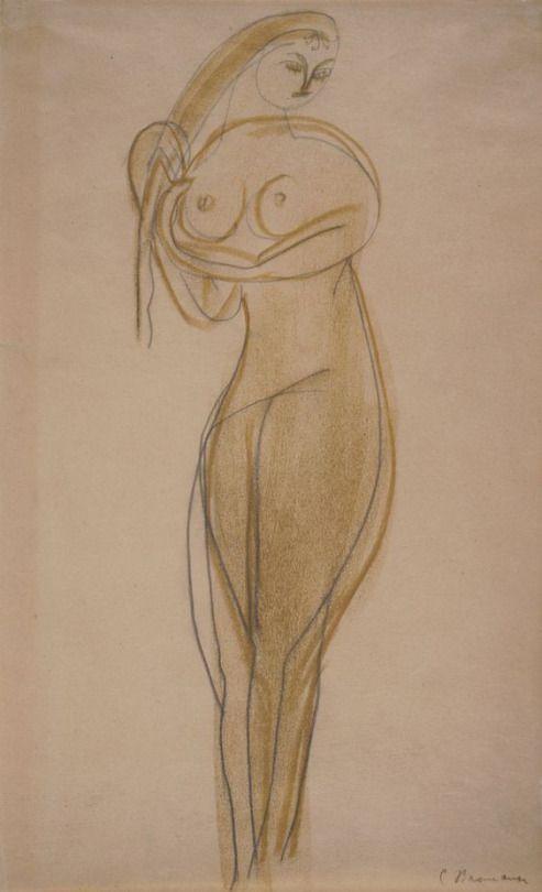 Study for -The Princess-Constantin Brancusi, b.1876