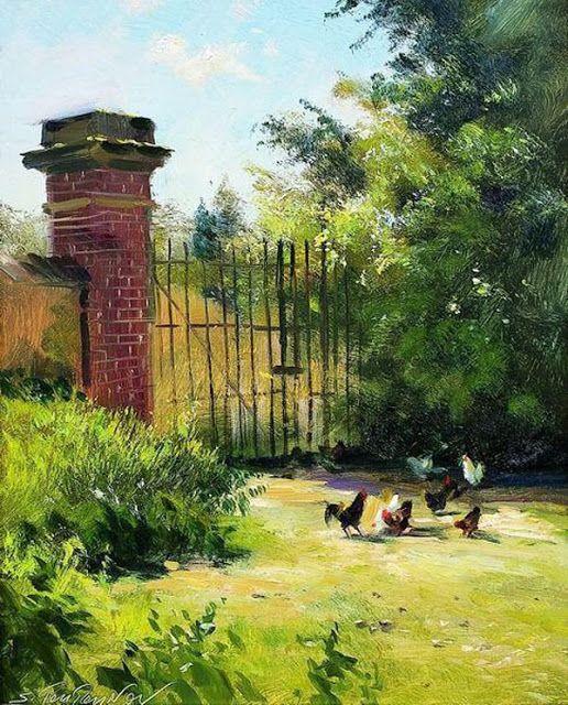 Sergei Toutounov   Paesaggi, Disegni di paesaggi ...