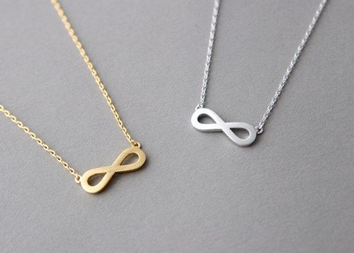SURFACE GOLD INFINITY NECKLACE PENDANT INFINITY SIGN JEWELRY INFINITY