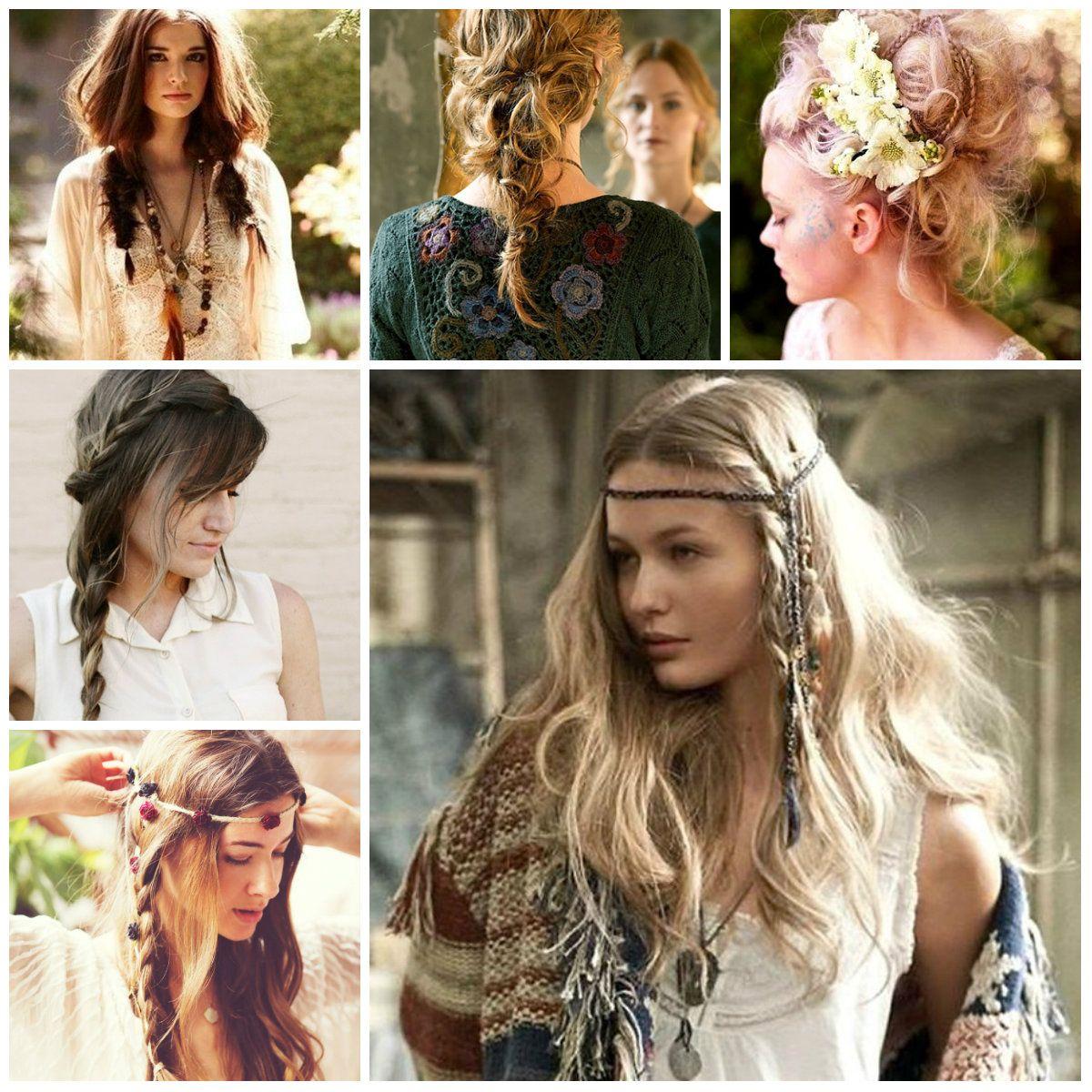Messy Boho Hairstyles Bohemian Hairstyles Hair Styles Thick Hair Styles