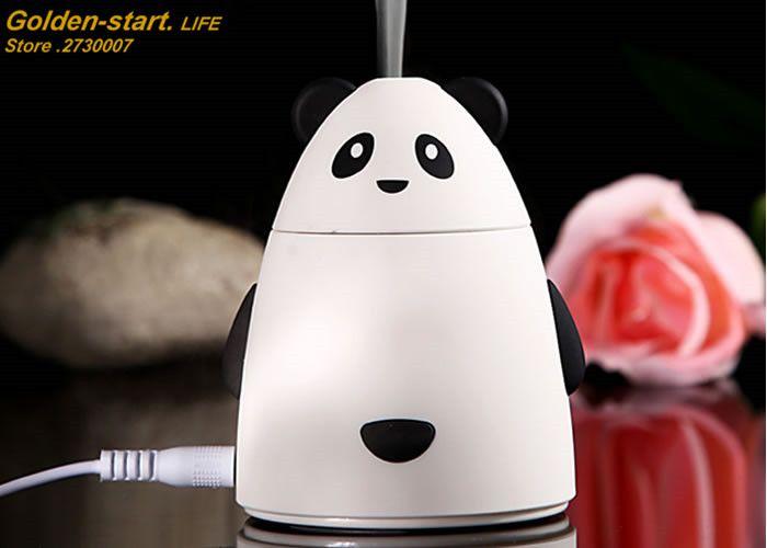 Mini Cartoon Bear Design USB Humidifier Air Cleaner Purifier Freshener Mist Maker Fogger For Office Car Room Free Shipping
