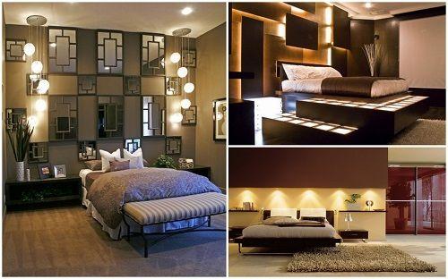 15 esempi delle luci splendenti nella camera da letto
