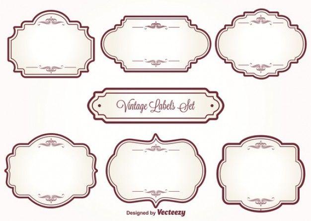 Download 7 Cute Vintage Frames For Free Vintage Labels Vintage Frames Vintage Labels Printables Free