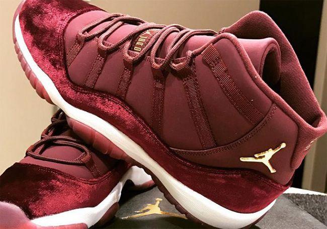 burgundy jordans 11