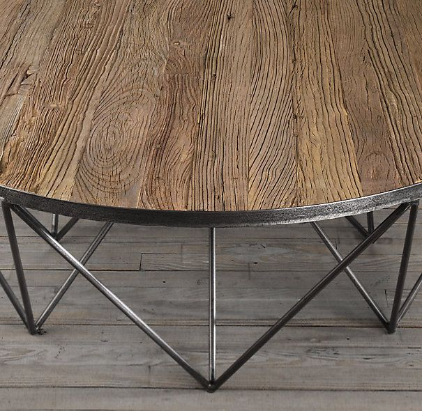 Martens Round Coffee Table Restoration Hardware 36 Inch: Tribeca Round Coffee Table