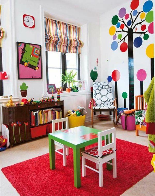 30 Ideen für Kinderzimmergestaltung - akzente gestalten ideen deko - wohnzimmer gestalten rot