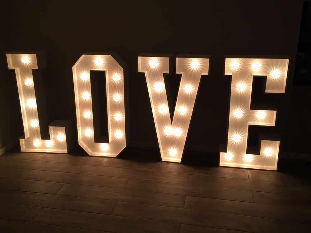 Wedding Letter Hire 4ft Giant Led Love Letter Hire For Weddings