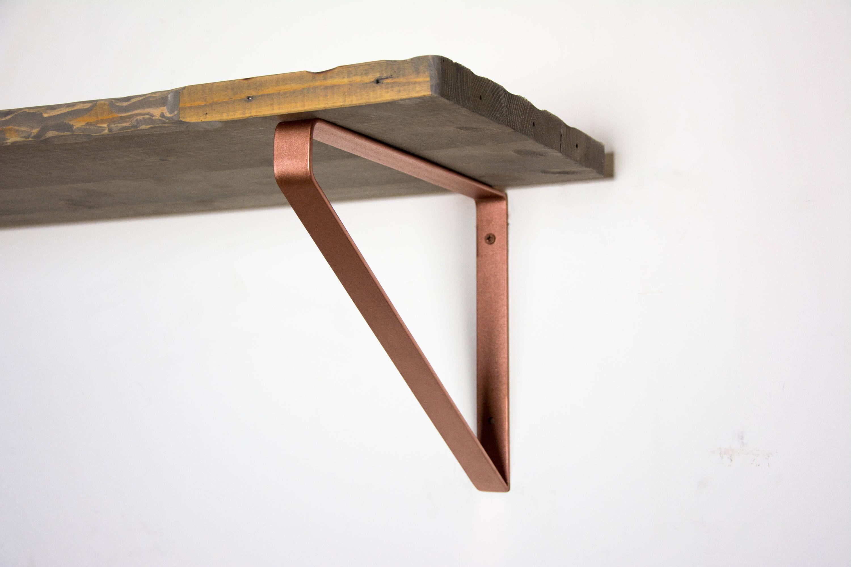 Large Inverted Triangle Bracket Powder Coated Shelf Brackets