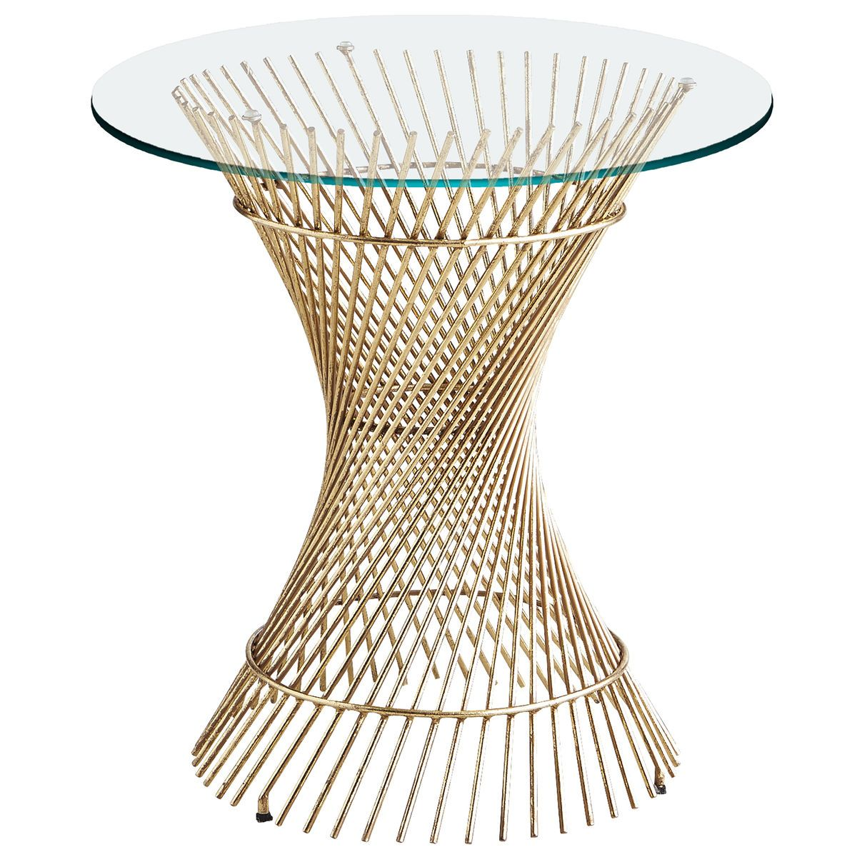 Orella Gold Spiral End Table Base | Pier 1 Imports