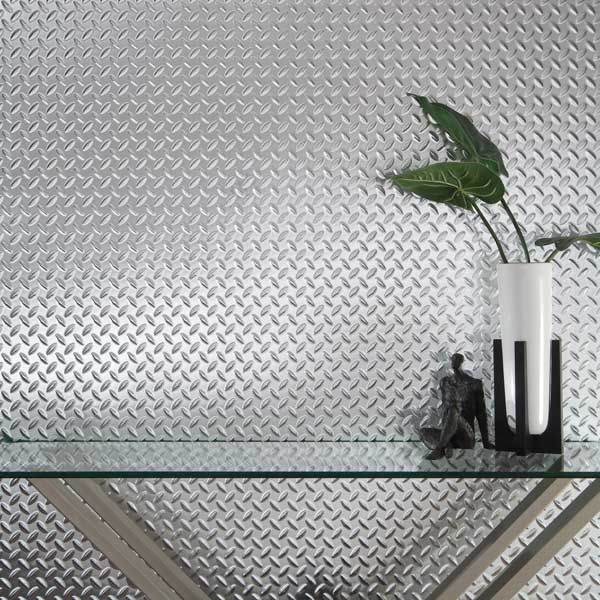 Fasade Wall Panel Diamond Plate In Brushed Aluminum In 2020 Wall Paneling Diamond Plate Wall Panel Design
