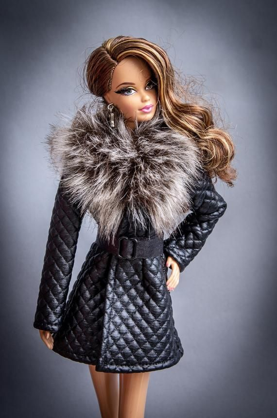 Barbie clothes - Barbie winter coat - Barbie jacket, Barbie doll clothes, Fashion Royalty doll clothes, Poppy Parker, 12'' action figure #barbie