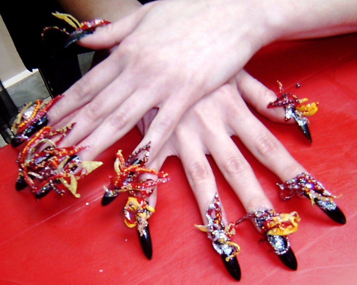 3d nail art | nail-art-designs-easy-3d-crazy-wedding-nail-art ...