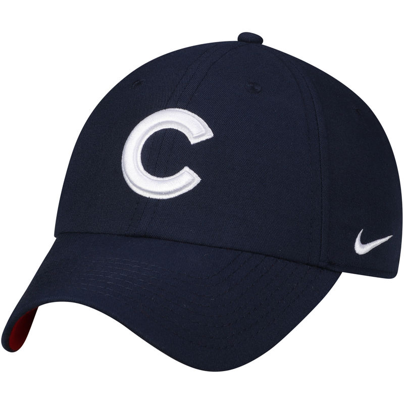 d6e7b8fe951 Chicago Cubs Nike Heritage 86 Stadium Independence Day Adjustable Hat - Navy