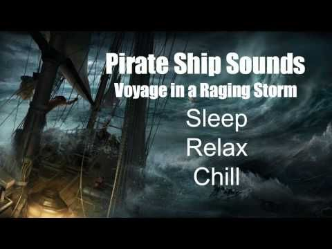 Halloween Parties Seattle 2020 Pirate Pirate Ship Sounds   Voyage in a Raging Storm   Rain   Thunder