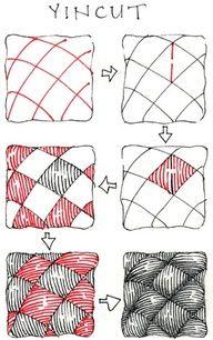 Yincut Zentangle Pattern Ideas Step By Step Zentangle Patterns Zentangle Drawings Zentangle Tutorial