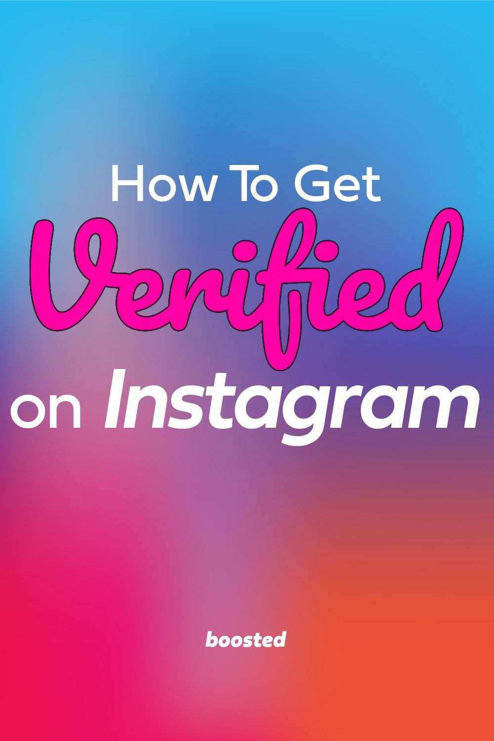 How To Get The Little Blue Check On Instagram