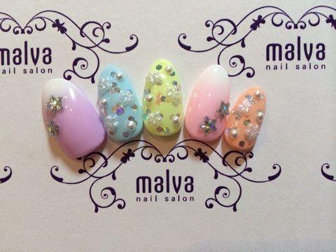 爽やか春ネイル♡ の画像|森絵里香オフィシャルブログ「nail salon malva」Powered by Ameba