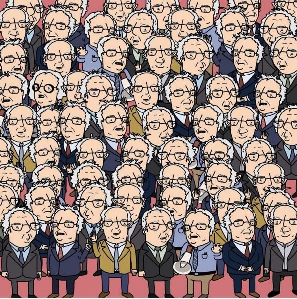 Can You Find Doc Brown In A Sea Of Bernie Sanders