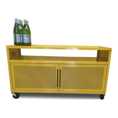 Vibrant Yellow Media Cabinet From Sauder The Sauder Soft Modern Tv