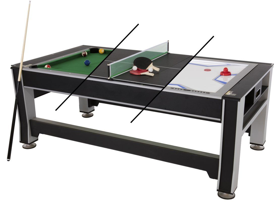 6 In 1 Combo Game Table Pool Air Hockey Ping Pong Roulette Poker Dining Walnut Multi Game Table Table Games Outdoor Pool Table