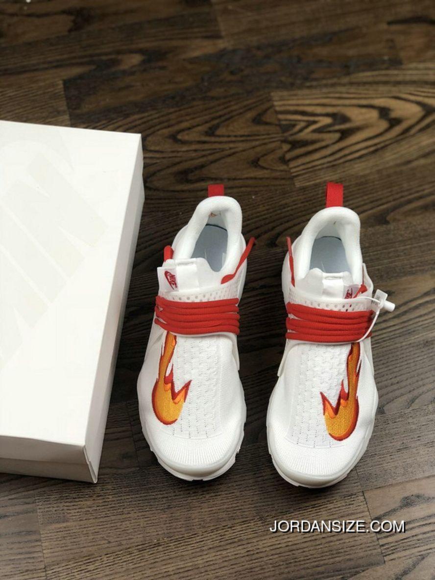 buy popular a0b1c 5d726 Nike Sock Dart Kjcrd Triple White Running Shoes 819686-100 White Red Orange  Free Shipping