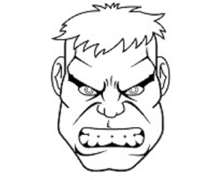 hulk face coloring pages - photo#13