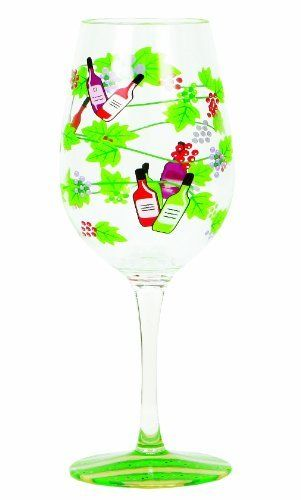 Lolita Love My Party of Two Wine Tasting 16-Ounce Acrylic Wine Glasses, Set of 2 by C.R. Gibson. $18.24