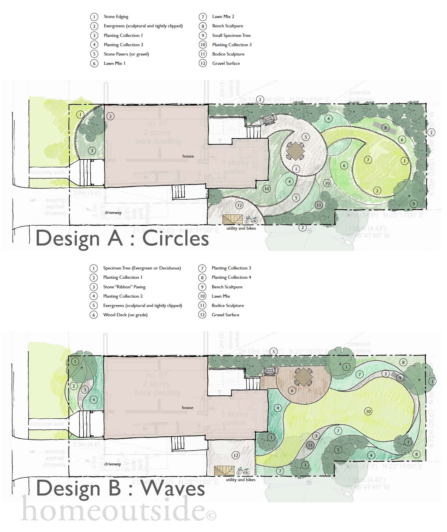 Two designs by Home Outside Design online landscape design service. Both  inspired by the images - Two Designs By Home Outside Design Online Landscape Design Service