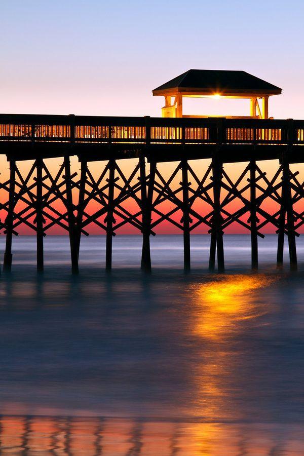 Pier at Folly Beach, Charleston, South Carolina  | Airforce