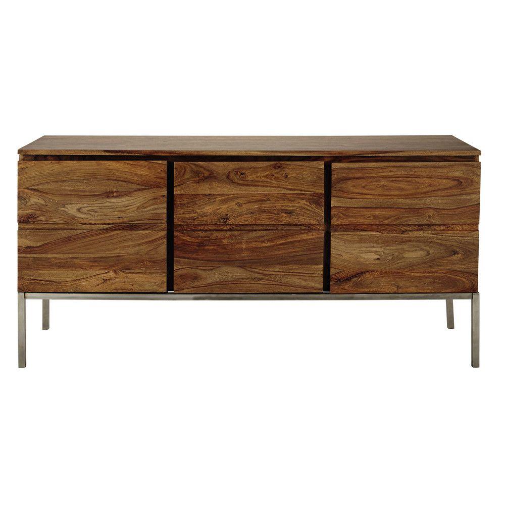 Solid sheesham wood sideboard W 165cm   Sideboards   Sideboard, Dining room, Buffet