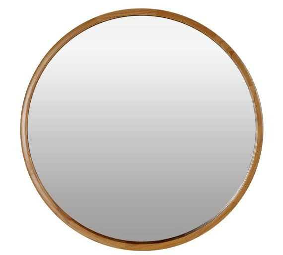 buy heart of house holt deep round wall mirror oak effect at argosco