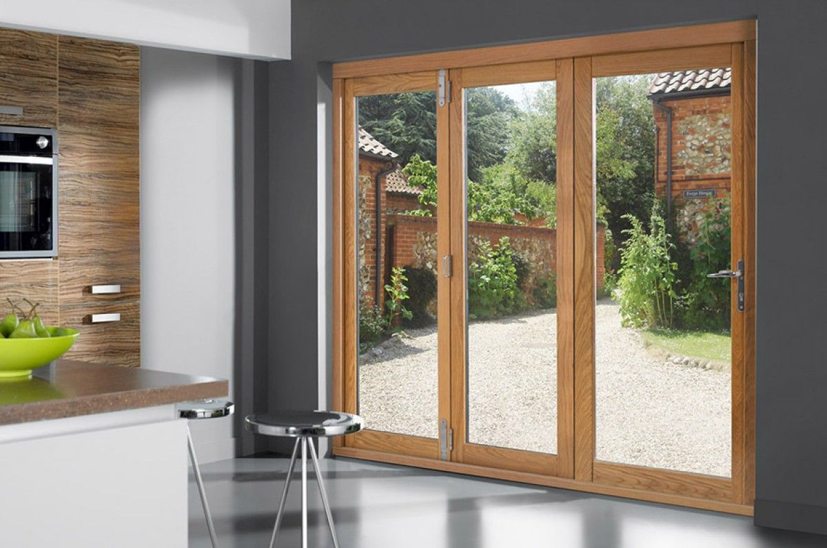 Openvu Classic 1790mm Approx 6ft Oak Bifold Doors Creative Doors