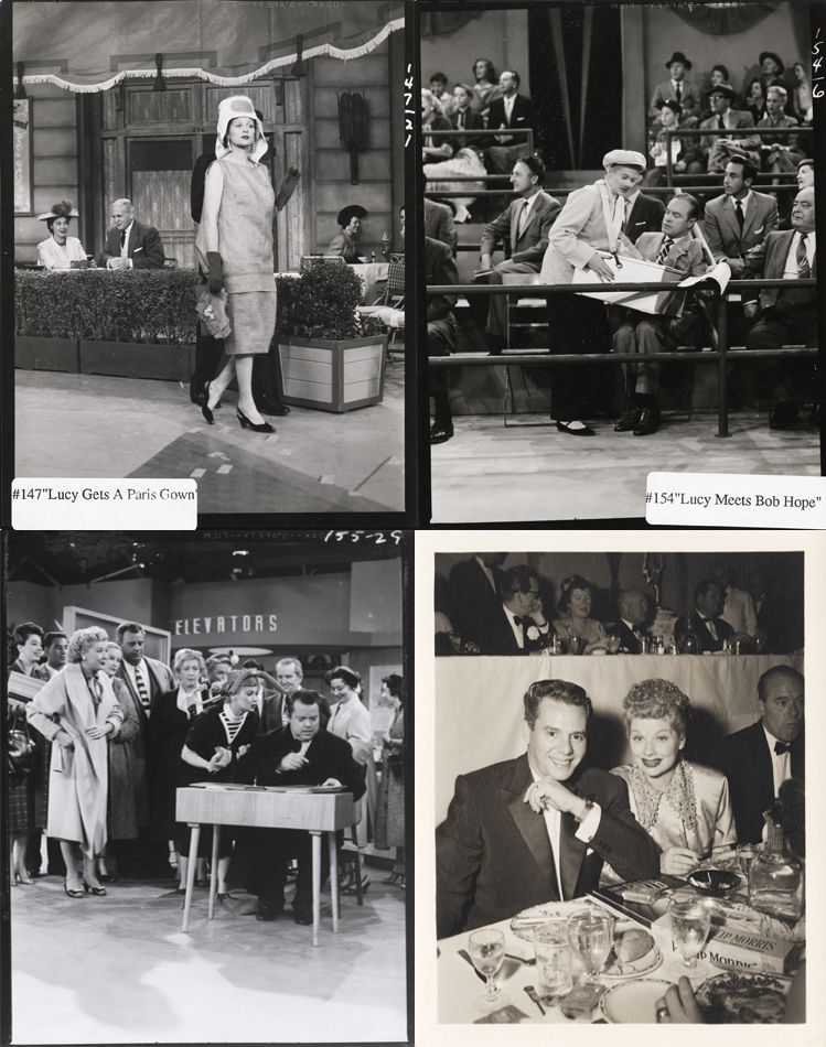 Lucille Ball and Desi Arnaz (164) black & white proof prints from I ...