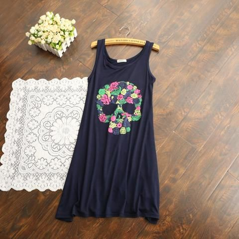 Floral Skull Dress - Various Colors