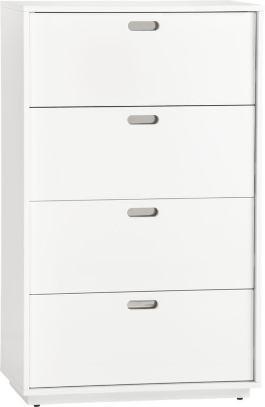 Best Gloss Tall Chest In Storage Furniture Cb2 Apartment 400 x 300