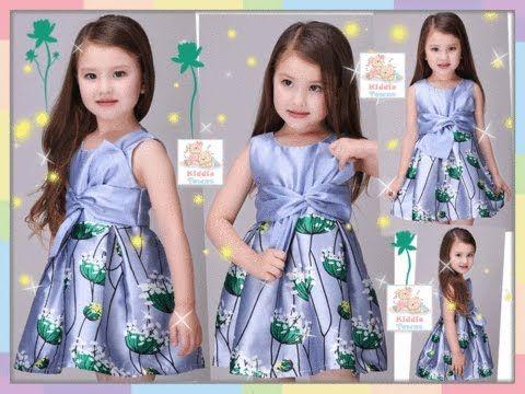 a9a41e72f اجمل فساتين اطفال بالوان روعة ملابس اطفال بناتي صيف 2017 فساتين بنات للعيد  - YouTube