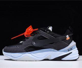Men s and Women s Off-White x Nike M2K Tekno Black Grey Shoes A03108-053 27700e077