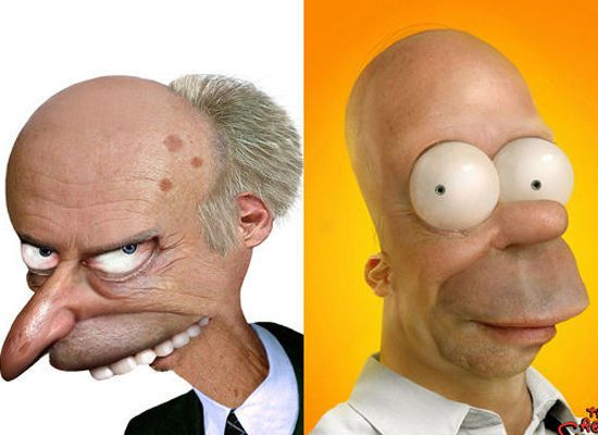 Mr Burns Homer Simpson The Simpsons You Cant Miss This The - 18 realistic cartoon characters that are the stuff nightmares are made of