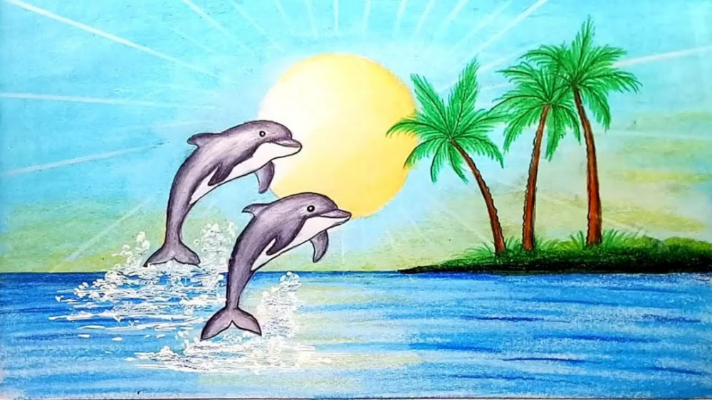 Cartoon Dolphin Drawing Easy Fish Images Photo For ...