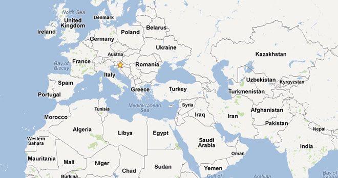Google Karta Europe Karta