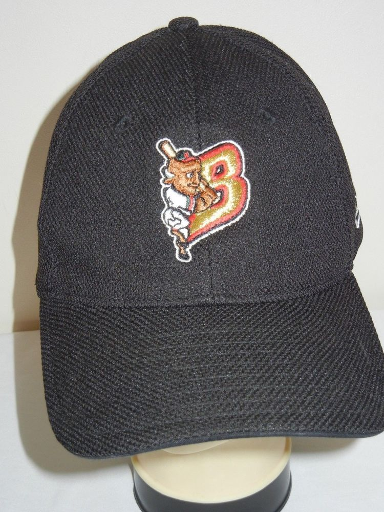 Buffalo Bisons fitted M   L baseball hat cap New Era polyester black  NewEra   BuffaloBisons 30749440396