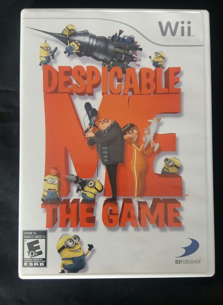 Despicable Me The Game For Wii Console Wii Games Despicable Me Games For Kids