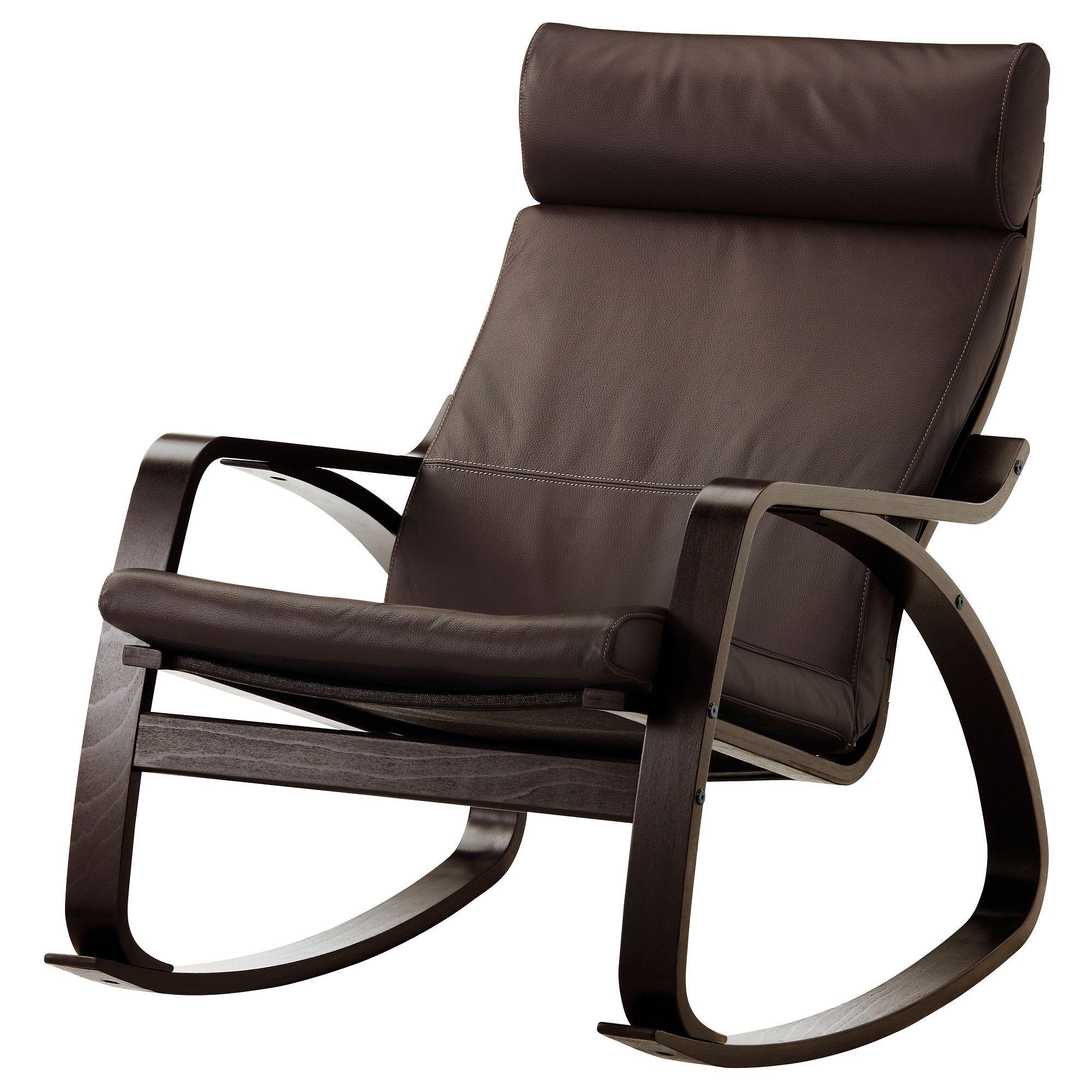 Poang Rocking Chair Black Brown Robust Glose Dark Brown Poang