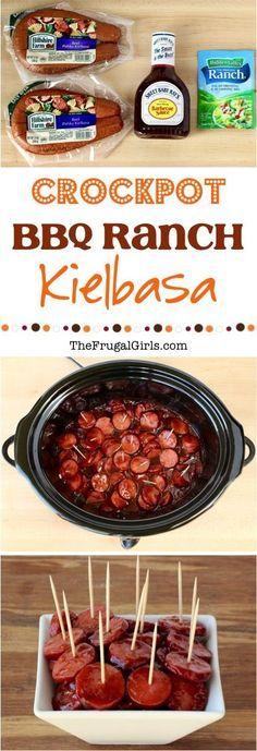 Crock Pot Kielbasa Bites Recipe! {BBQ Ranch} - The Frugal Girls