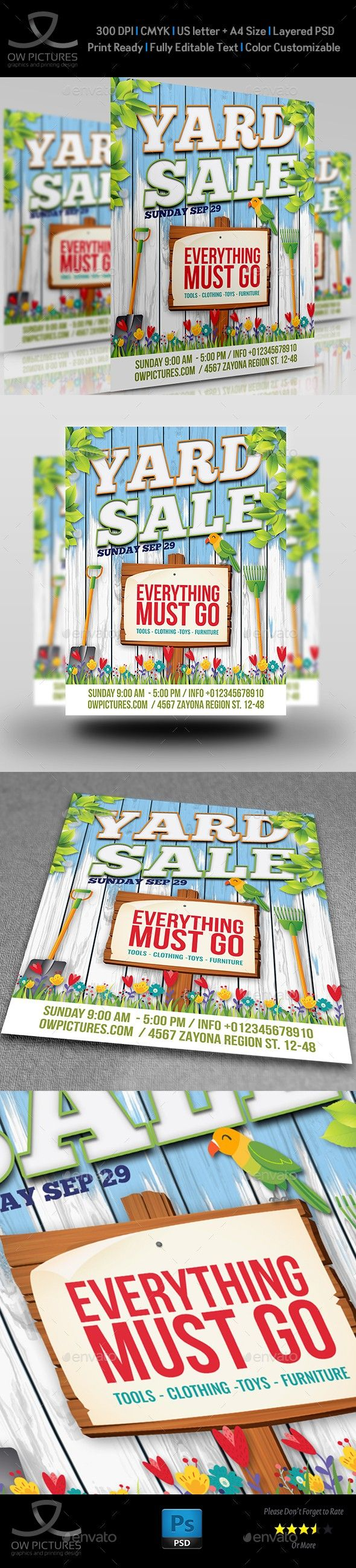 ad advert big clothing cover driveway flyer garage garage sale items junk leaflet moving neighborhood sale sales sp flyers templates
