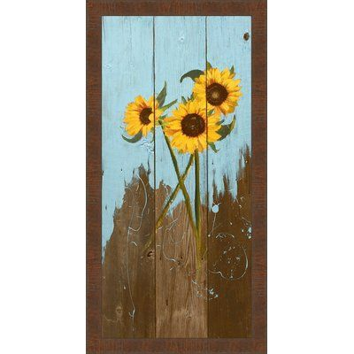 Ashton Wall Décor LLC In Bloom & Landscape \'Sunflowers on Wood I ...